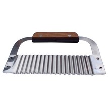Potato Cutter Handmade Stainless Steel Wood Handle Vegetable Crinkle Wav... - €8,68 EUR