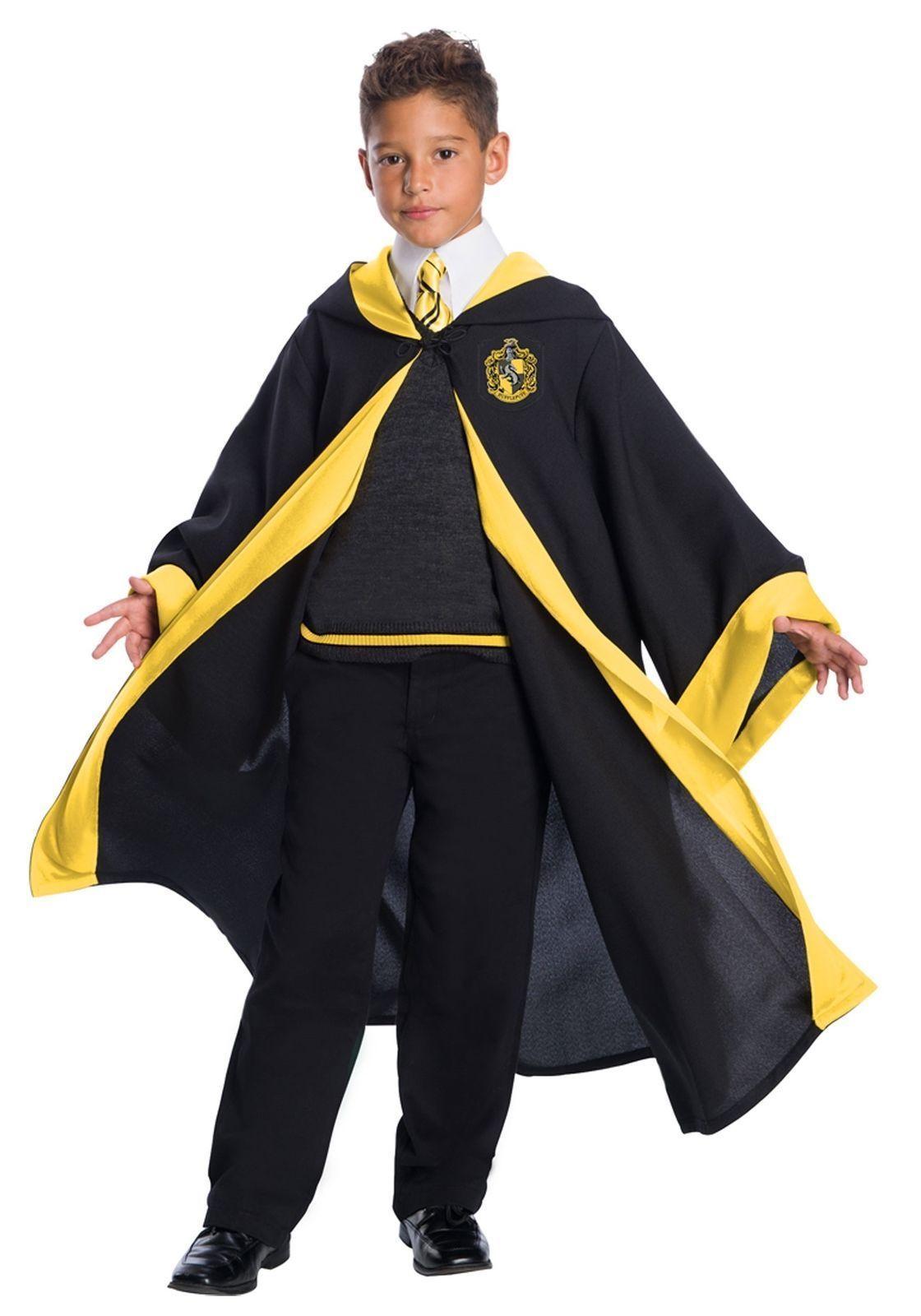 Charades Harry Potter Hufflepuff Student Childrens Kids Halloween Costume 03584C