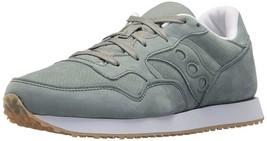 Saucony Originals Mens Green Nubuck Leather DXN Trainer CL Running Sneaker Shoe image 1