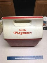 Vintage Igloo Little Playmate Ice Chest Picnic Lunch Cooler Red/White Bu... - €13,13 EUR