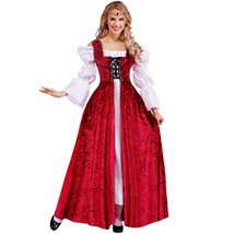 Forum Women's Plus Size Medieval Lace-Up Gown, Red - $50.68