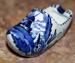 Vintage DELFTS Hand Painted Porcelain Holland Shoe:2-Rest Ashtray,Dutch ... - $29.99