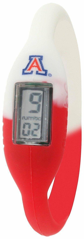 Rumba Time Men's University of Arizona White Red Digital Silicone Watch Medium