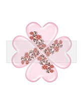 Clover Heart Flower6-Digital ClipArt-Art Clip-Gift Tag-Notebook-Scrapboo... - $2.00