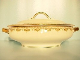 GUERIN LIMOGES OVAL SERVING DISH WITH LID VINTA... - $149.69