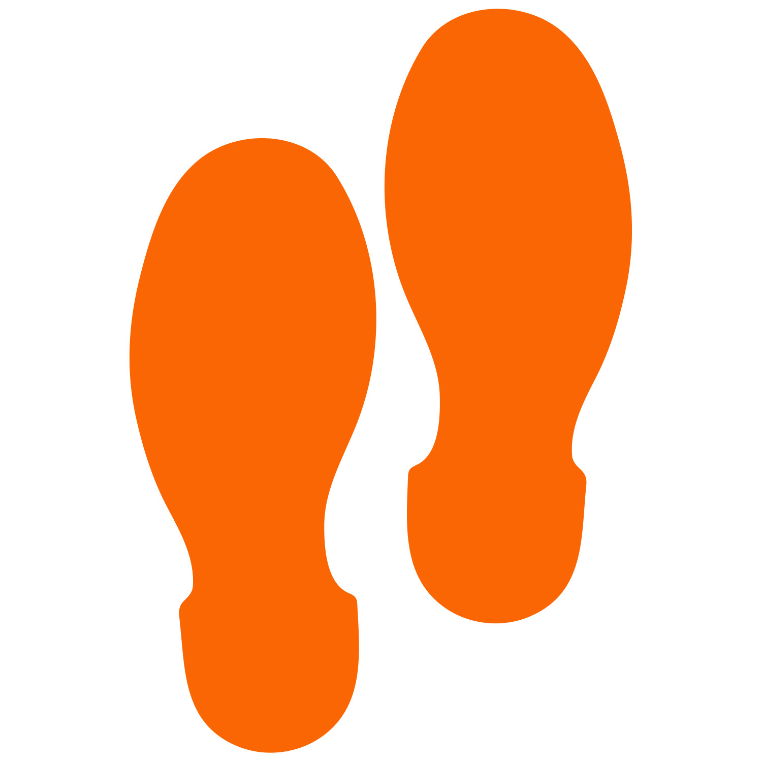 Primary image for LiteMark 9 Inch Orange Removable Shoe Print Decals for Floors and Walls 12 Pack