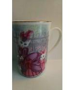Hard to Find Otagiri Coffee Mug White Cats Matt Hromalik Made in Japan -... - $22.76