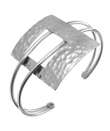 STERLING SILVER MODERN STYLE CUFF BRACELET - TAXCO Mexican Silver Jewelry - $79.95