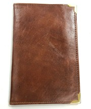Vintage Brown Leather Passport Holder or Wallet Marked MARIANO RIVA - $48.62