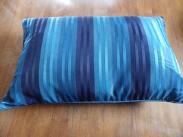 Rectangular Decorator Throw Pillow Beige Lt Blue Navy Stripes Target Fea... - £17.65 GBP