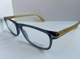 New Tom Ford TF 5356  090 55mm Transparent Blue Men's Eyeglasses Frame Italy - $149.99
