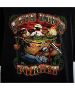 Vets Don't Forget Biker Rags 2006 Black Graphic T Shirt Mens Sz 3X - $26.03
