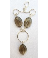 """Sterling Silver and Smokey Quartz """"In-Balance"""" to Circle Design - $55.00"""