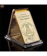 1776 Masonic Novus Ordo Seclorum Freemasonry Illuminati Symbol Gold Clad... - $12.95