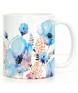 Ceramic coffee mug blue poppy thumbtall