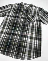 Men's Levi's Green | Black | White Plaid S/S Button Down Shirt - $69.00