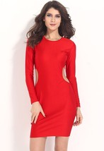 ITCQUALITY 2017 WOMEN AUTUMN HOT CLUB BODY CON CUT OUT MIDI PARTY DRESS ... - $44.55