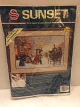 "Sunset No Count Cross Stitch Kit 13923 ""Gracious Era 18"" X 12""  1994 New - $21.49"