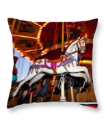 Flying Pony, Carousel, Throw Pillow, seat cushion, fine art, home decor - $41.99+