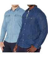 Levi's Men's Big & Tall Barstow Western Pearl Snap Casual Denim Dress Shirt - $39.95
