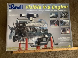 REVELL Visible V-8 Engine 1:4 Scale Model Hand Crank In Box in packages - $163.35