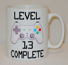 Level 13 Complete 13th Birthday Mug Can Personalise Video Game Retro Gam... - $9.78
