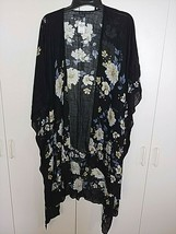 AMERICAN EAGLE OUTFITTERS LADIES BLACK/FLORAL 100% VISCOSE OPEN TOP-NWT-... - $11.99