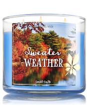 BATH & BODYWORKS Sweater Weather 14.5 OuncesThree Wick Candle - $25.63