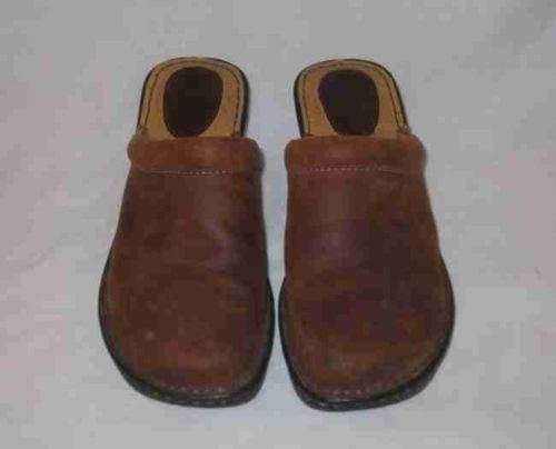Great Womens Size 7 BOC BORN Tan/Brown Mules