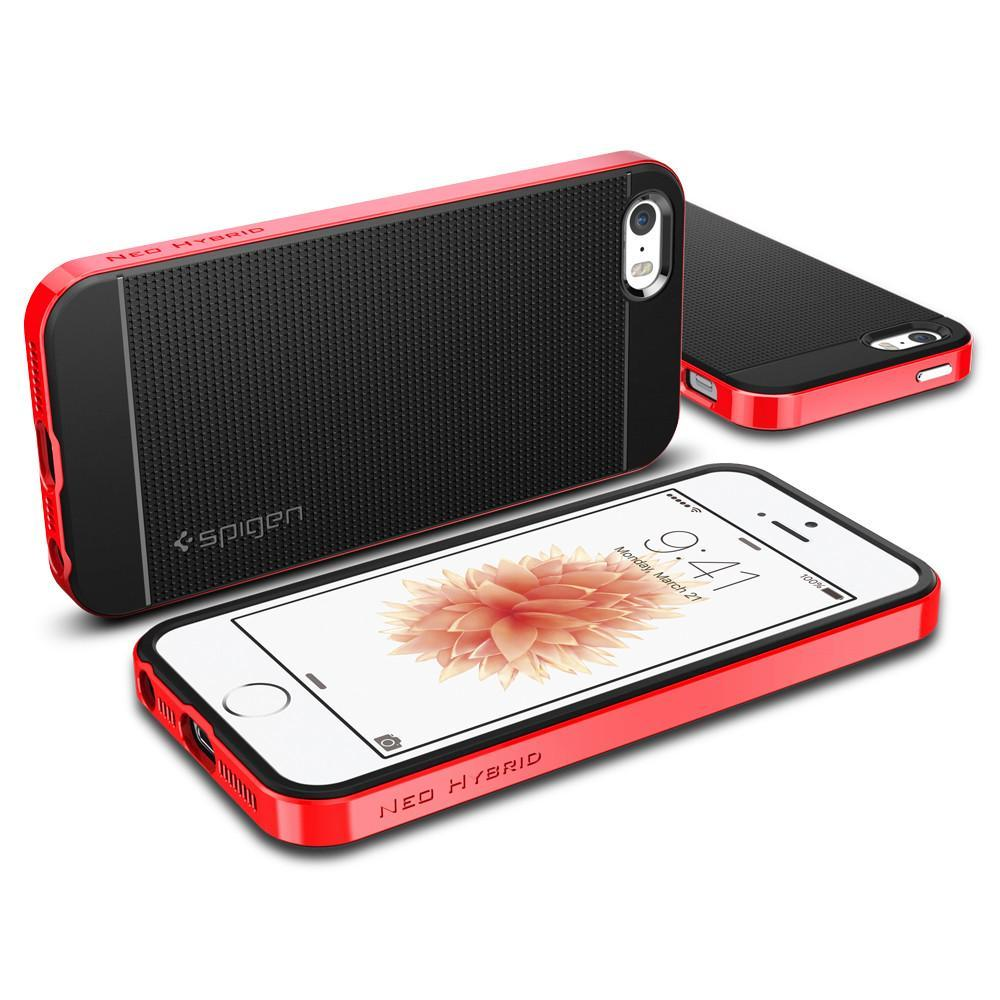 SPIGEN NEO HYBRID SERIES FOR iPHONE 5/5S/SE DANTE RED