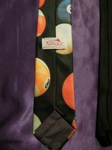 Vintage 1991 Ralph Marlin Random Billiard Pool Balls Neck Tie image 5