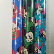 Wrapping Paper Roll Christmas 40 Sq Ft Disney Mickey Mouse Minnie Mouse Pluto - $9.99
