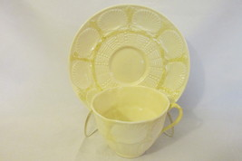 Vintage Belleek Irish Pottery Cup & Saucer, New Shell Pattern, Discontin... - $15.99