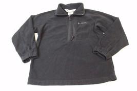 K4740 Boys COLUMBIA SPORTSWEAR Black Fleece Half Zip JACKET Coat Youth 8 - $21.22