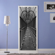 3D Schwarz Brücke Door Wall Mural Photo Wall Sticker Decal Wall Aj Wallpaper De - $73.11+