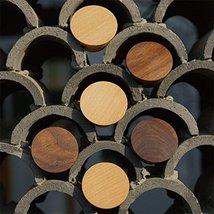 2Pcs Natural Wooden Coat Hooks, Wall Mounted Single Cone Wall Hook Rack, Decorat image 7