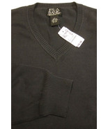 NWT $60 Jos. A. Bank Black 100% Cotton Man's V-Neck Sweater SIze L NEW - $59.99