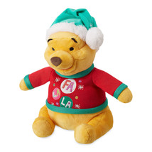 Disney Store Winnie the Pooh Holiday Plush Medium Christmas Santa Hat New - $26.18