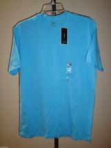 NEW MACY'S ALFANI BASIC MEN'S CREW NECK SHORT SLEEVE T-SHIRT MARINA BLUE... - $7.91