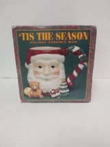 'Tis The Season Large Holiday Ceramic Mug Christmas Bear New free shipping - $14.84