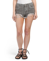 Boom Boom Jeans Juniors Large Studded Cutoff Denim Shorts Size 7 Casual ... - $14.50
