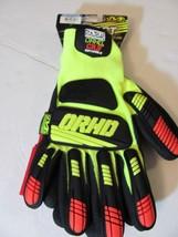 NWT-Mechanix Wear ORHD-Cut Level 3-Knit Nitrile Utility Glove-Hi Vis Yel... - $14.24