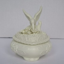 Ceramic Candy Dish Featuring Humming Bird With Flowers - $6.85