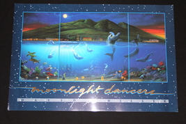 "David Miller ""Moonlight Dancers"" print, 24x36, ocean life, Hawaii code D... - $32.99"