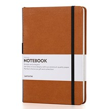Thick Classic Notebook with Pen Loop - Lemome Wide Ruled Hardcover Journ... - $18.18