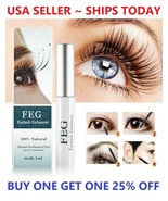 FEG Eyelash Enhancer Rapid Growth Liquid Serum Natural Longer Thicker La... - $5.98