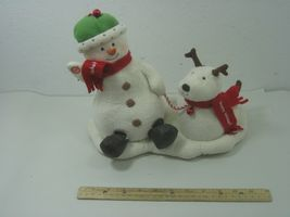 2004 Hallmark Jingle Pals Plush Snowman with Dog Animated Sings Jingle Bells image 6