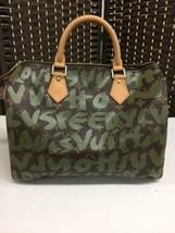 Auth Louis Vuitton Speedy Handbag Brown Vintage Graffiti Medium Zipper LVB0186 - $2,851.20
