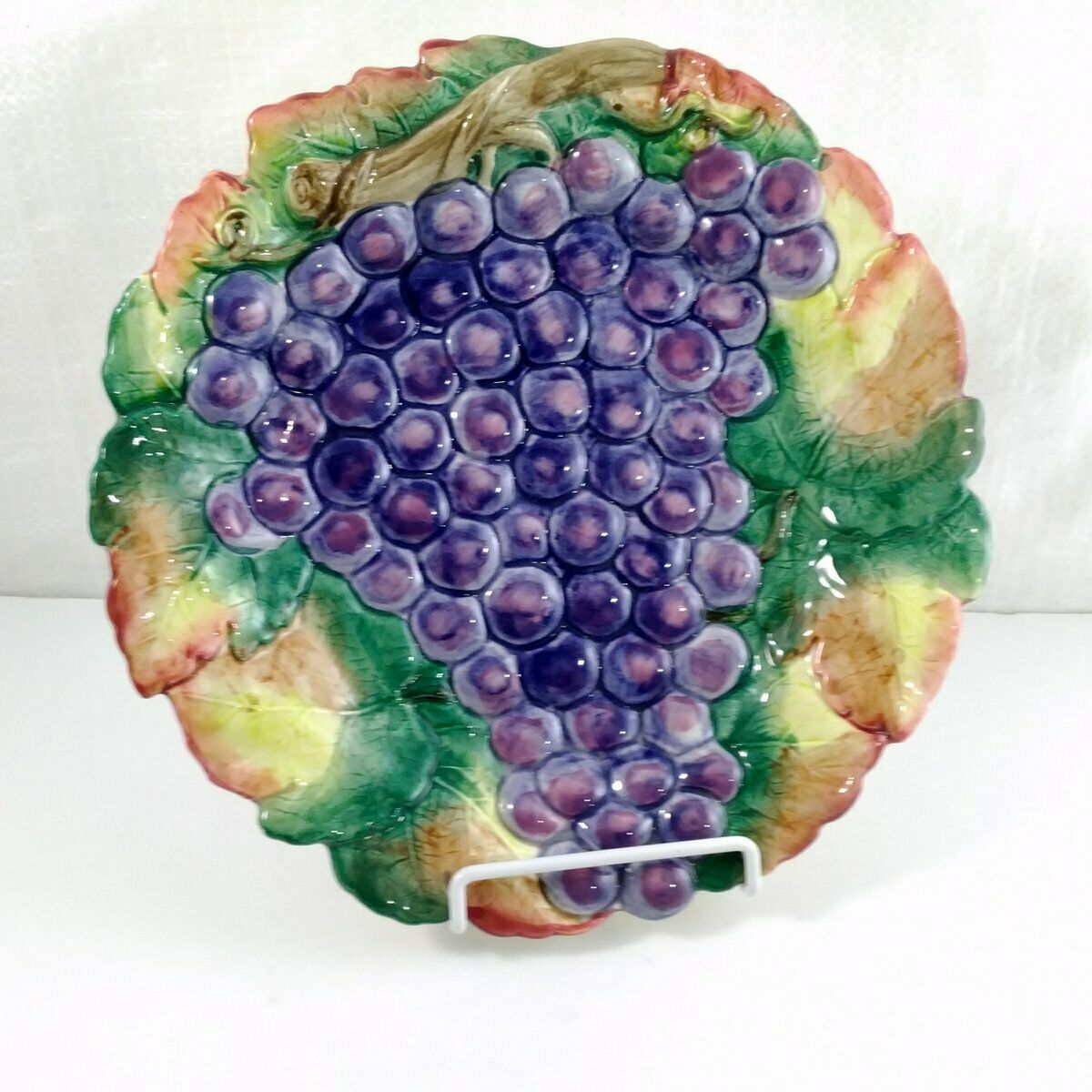 Primary image for FITZ & FLOYD Vintage Grape Motif Plate / Ready to Hang