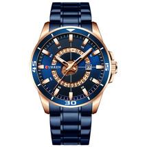 CURREN 8359 Calendar Full Steel Business Style Men Waterproof Quartz Watch - $22.27
